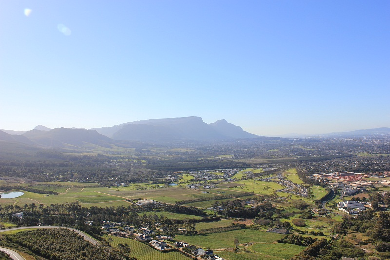 Constantia Winelands and Table Mountain